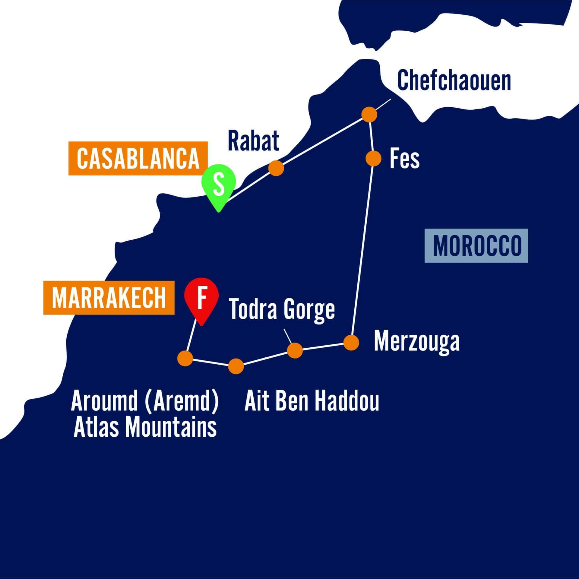 Chefchaouen location map
