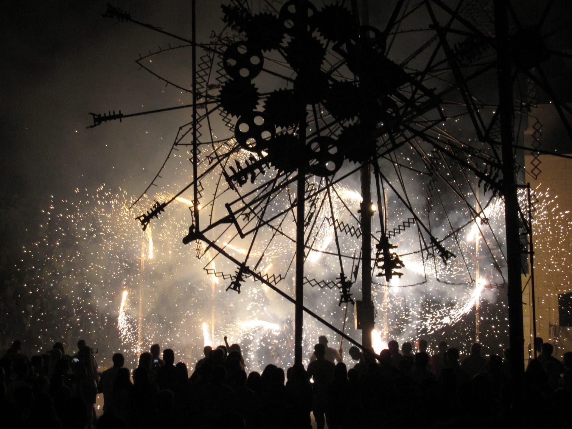 Fireworks for a festival in Gozo